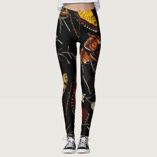 Inspirational Words on Colorful Butterflies Leggings