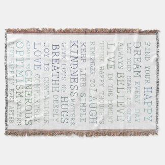 Inspirational Words Throw Blanket