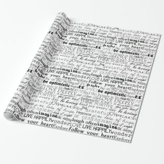 Inspirational Words Wrapping Paper