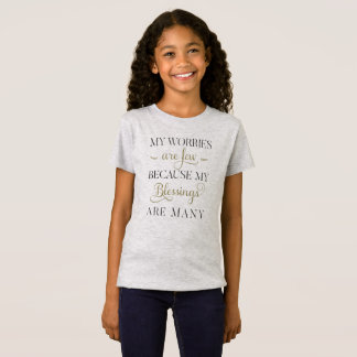 Inspirational Worries and Blessings   Jersey Shirt