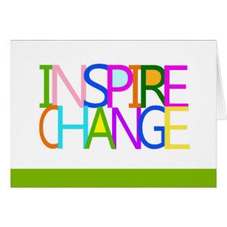 INSPIRE CHANGE Notecard