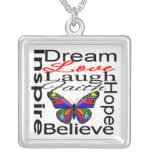 Inspire Collage Design Personalized Necklace