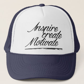 Inspire, create, motivate trucker hat