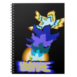 Inspire flying birds notebook