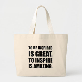 Inspire Is Amazing Large Tote Bag