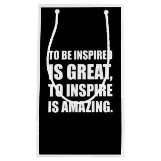 Inspire Is Amazing Small Gift Bag