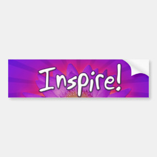 Inspire Lotus Design Bumper Sticker