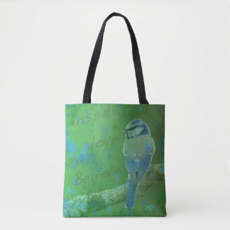 Inspire Love Believe Bird Tote Bag