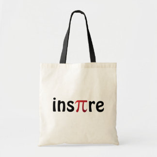 Inspire Math Geek Black Red Tote Bag