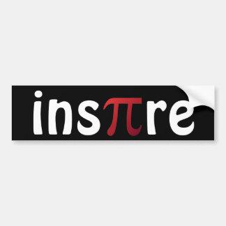 Inspire Mathematics Math Geek Pi Day Bumper Sticker