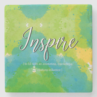 Inspire Motivational Design Stone Coaster