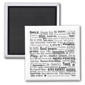 Inspire word art collage magnet