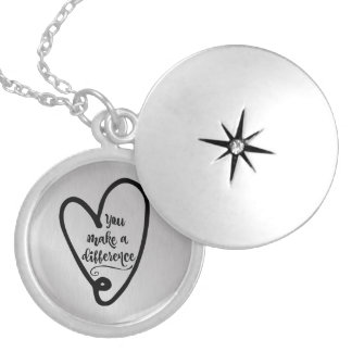Inspire: You Make a Difference Locket Necklace