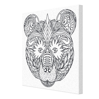 Inspired Bear 6 Gallery Wrap Canvas