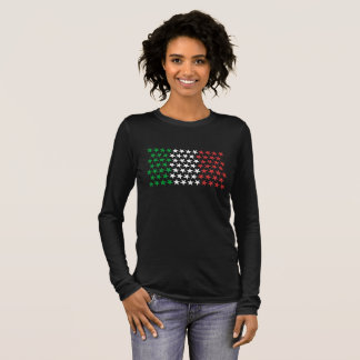 Inspired by Italian Flag. Stars Edition Long Sleeve T-Shirt