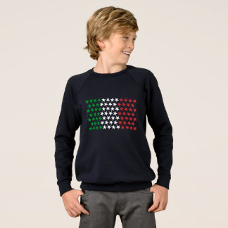 Inspired by Italian Flag. Stars Edition Sweatshirt