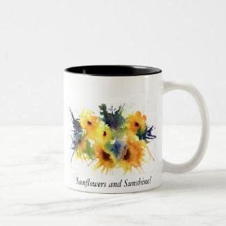 Inspired by Sunflowers, Sunflowers and Sunshine! Coffee Mugs