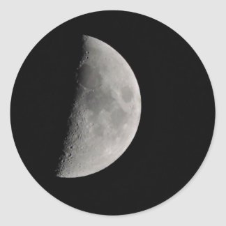 Inspired by the Moon Round Sticker