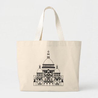 Inspired by the Sacre Coeur, Montmartre Large Tote Bag