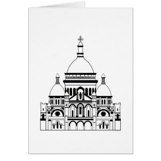 Inspired by the Sacre Coeur, Montmartre, Paris, Fr Card