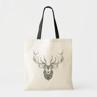 Inspired Deer Horned Head Tote Bag