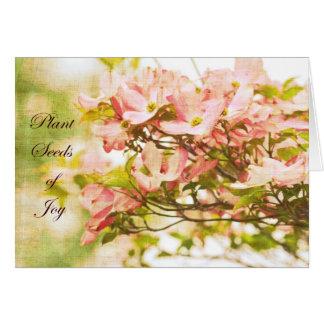 Inspired Dogwood Flowers Greeting Card