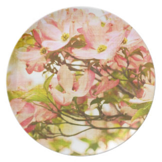 Inspired Dogwood Flowers Party Plates