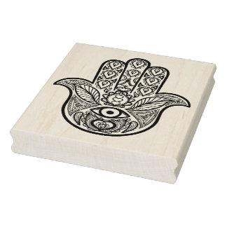 Inspired Hamsa Hand Rubber Stamp