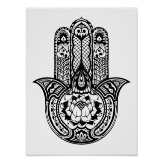 Inspired Hamsa Symbol 2 Poster