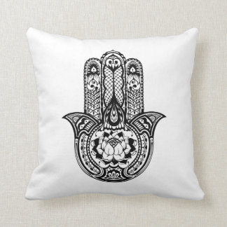 Inspired Hamsa Symbol Throw Pillow