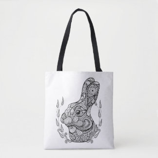Inspired Head Of Rabbit In Wreath 2 Tote Bag