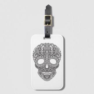 Inspired Human Skull Luggage Tag