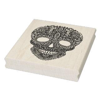Inspired Human Skull Rubber Stamp