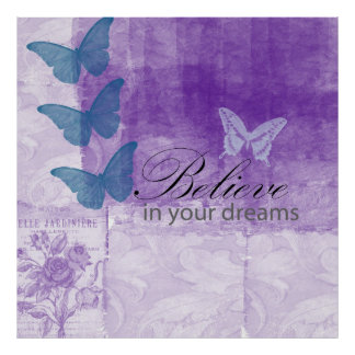 Inspired Lilac Dreams Poster
