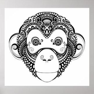 Inspired Monkey Design 2 Poster