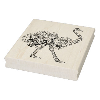 Inspired Ostrich Rubber Stamp