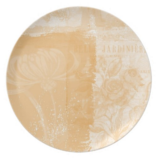 Inspired Peach Floral Party Plate