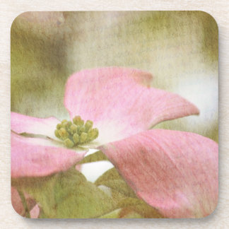 Inspired Pink Dogwood Flower Coasters
