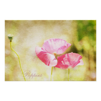 Inspired Pink Poppies Print