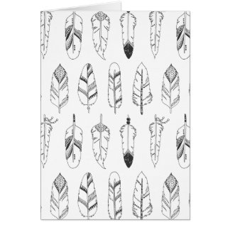Inspired Retro Feather Pattern Card