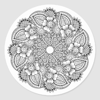 Inspired Round Design Classic Round Sticker