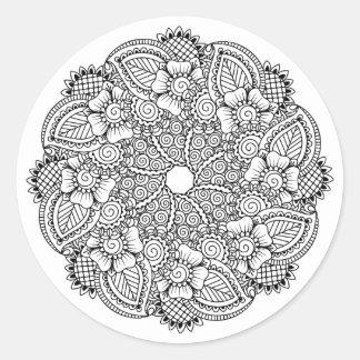 Inspired Round Design Round Sticker