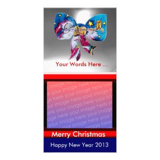 INSPIRED SANTA CHRISTMAS BOW CUSTOMIZED PHOTO CARD