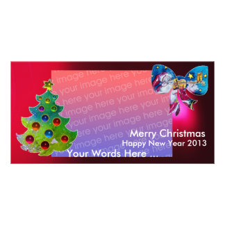 INSPIRED SANTA CHRISTMAS TREE AND BOW PICTURE CARD