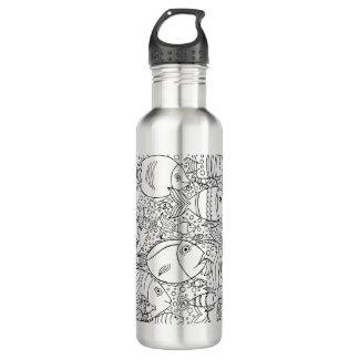 Inspired School Of Fish 710 Ml Water Bottle