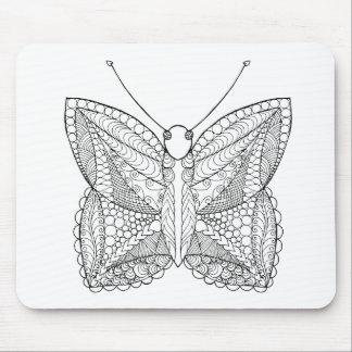 Inspired Tropical Design Butterfly Mouse Pad