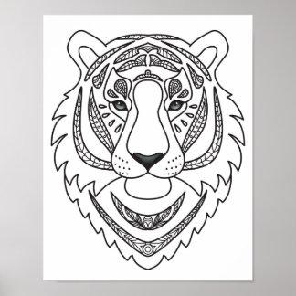 Inspired White Tiger 2 Poster