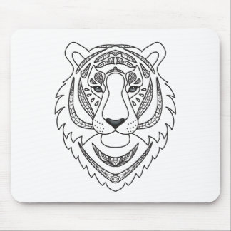 Inspired White Tiger Mouse Pad