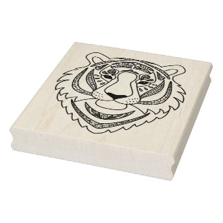 Inspired White Tiger Rubber Stamp