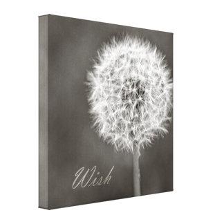 Inspired Wish Dandelion Canvas Prints